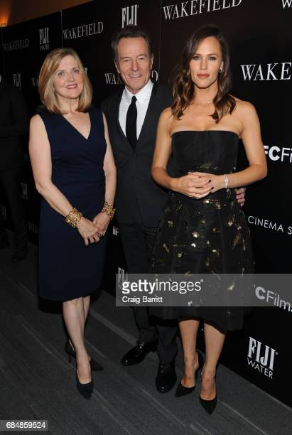 Robin Swicord Bryan Cranston and Jennifer Garner attend a special screening of 'Wakefield' hosted by FIJI Water and the Cinema Society at Landmark...