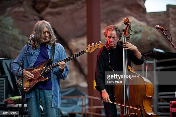 Robin Sylvester and Rob Wasserman performing with 'Ratdog' at Red Rocks Amplitheater in Morrison Colorado on July 11 2014