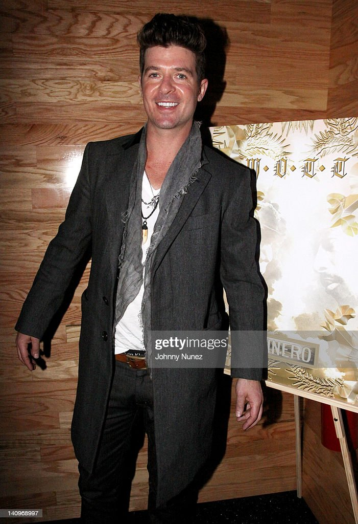 Robin Thicke attends Robin Thicke's birthday party at Greenhouse on March 8 2012 in New York City