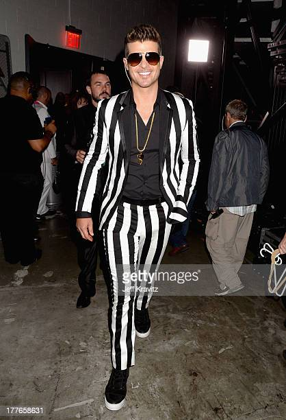 Robin Thicke attends the 2013 MTV Video Music Awards at the Barclays Center on August 25 2013 in the Brooklyn borough of New York City