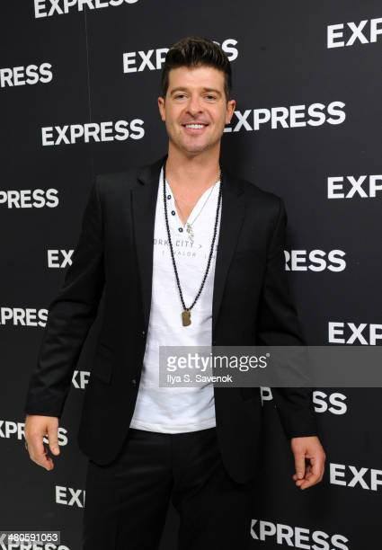 Robin Thicke attends the EXPRESS Times Square Grand Opening Event at EXPRESS Times Square on March 25 2014 in New York City