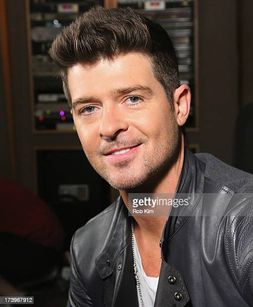 Robin Thicke films Music Choice's Take Back Your Music Campaign at MSR Studios on July 18 2013 in New York City