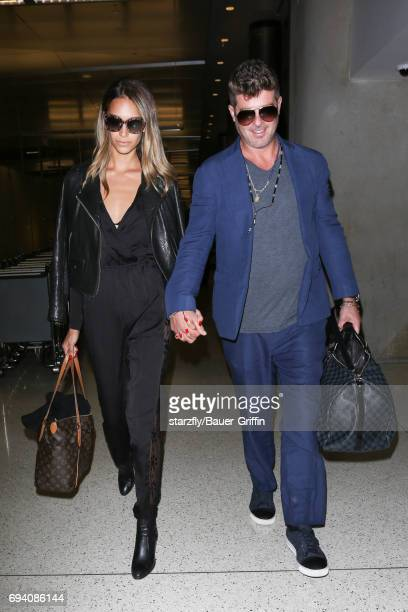 Robin Thicke is seen at LAX on June 08 2017 in Los Angeles California