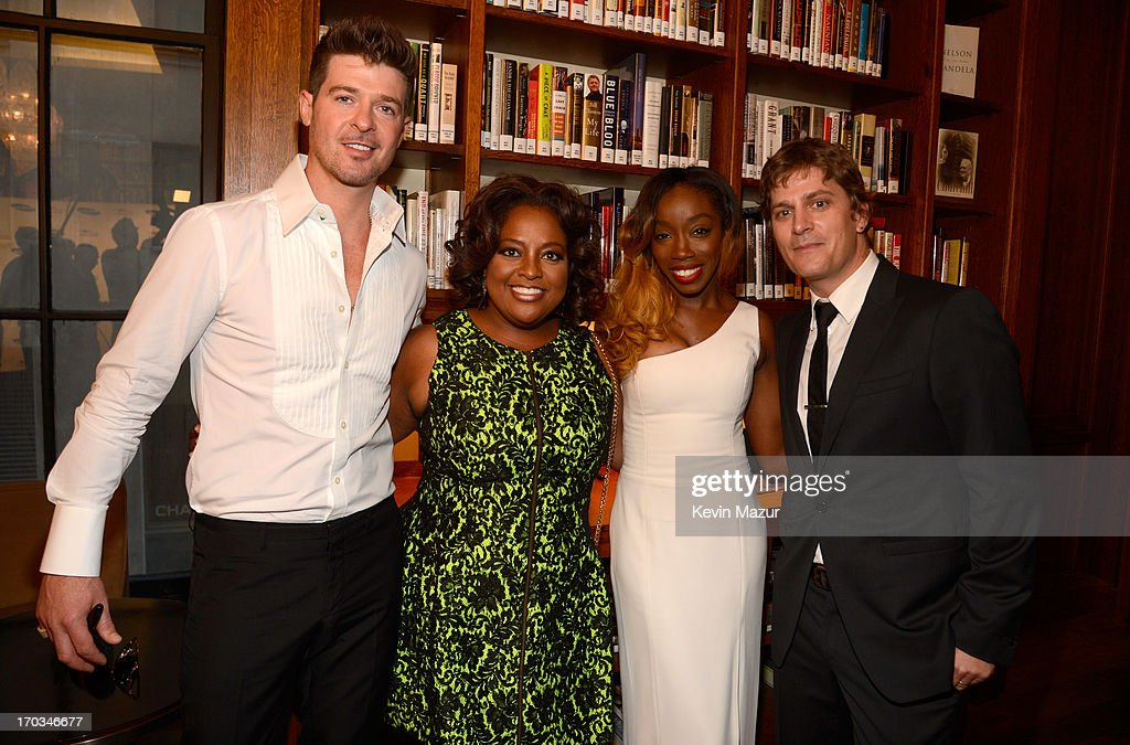 Robin Thicke, Sherri Shepard and Rob Thomas attend the Samsung's Annual Hope for Children Gala at CiprianiÕs in Wall Street on June 11, 2013 in New York City.