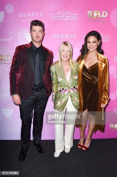Robin Thicke the Mayor of Beverly Hills Lili Bosse and Vanessa Lachey attend The Annual Rodeo Drive Holiday Lighting Celebration on November 16 2017...