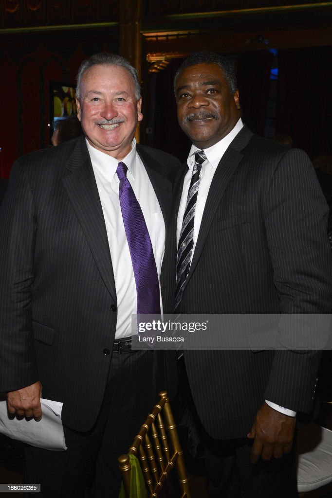 Robin Treadway (L) and Orioles Hall of Famer Eddie Murray attend T.J. Martell Foundation's Annual World Tour of Wine Dinner at The Angel Orensanz Foundation on November 14, 2013 in New York City.