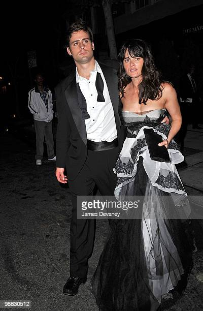 Robin Tunney and guest attends the Costume Institute Gala after party at the Mark hotel on May 3 2010 in New York City