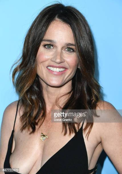 Robin Tunney arrives at the Variety And Women In Film's 2017 PreEmmy Celebration at Gracias Madre on September 15 2017 in West Hollywood California