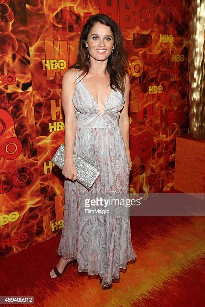 Robin Tunney attends HBO's Official 2015 Emmy After Party at The Plaza at the Pacific Design Center on September 20 2015 in Los Angeles California