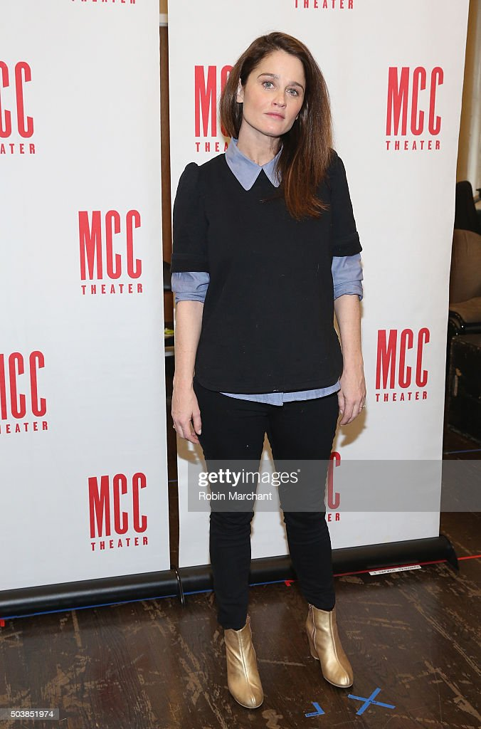 Robin Tunney attends 'Smokefall' Press Preview at MTC Rehearsal Studios on January 7 2016 in New York City