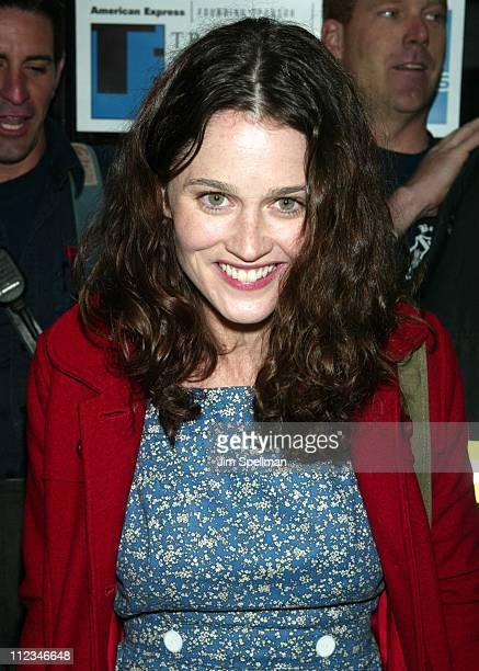 Robin Tunney during 2002 Tribeca Film Festival 'Double Whammy' 'Roger Dodger' Screening Exits at United Artists Battery Park City in New York City...