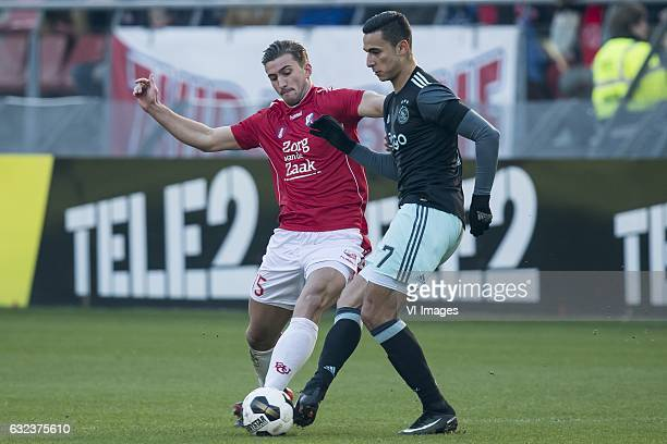 Robin van de Meer of FC Utrecht Anwar el Ghazi of Ajaxduring the Dutch Eredivisie match between FC Utrecht and Ajax Amsterdam at the Galgenwaard...