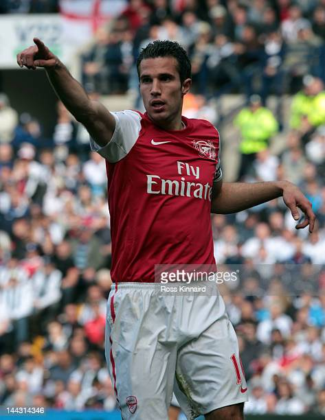 Robin Van Persie of Arsenal during the Barclays Premier League match between West Bromwich Albion and Arsenal at The Hawthorns on May 13 2012 in West...