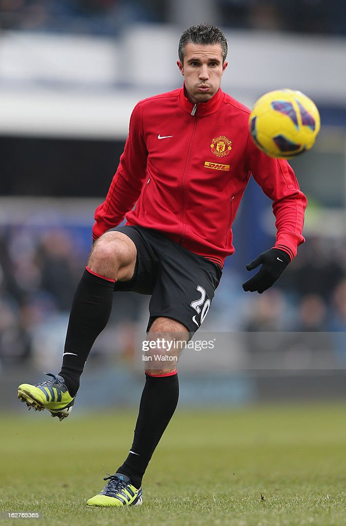 Robin Van Persie of Manchester United during the Barclays Premier League match between Queens Park Rangers and Manchester United at Loftus Road on February 23, 2013 in London, England.