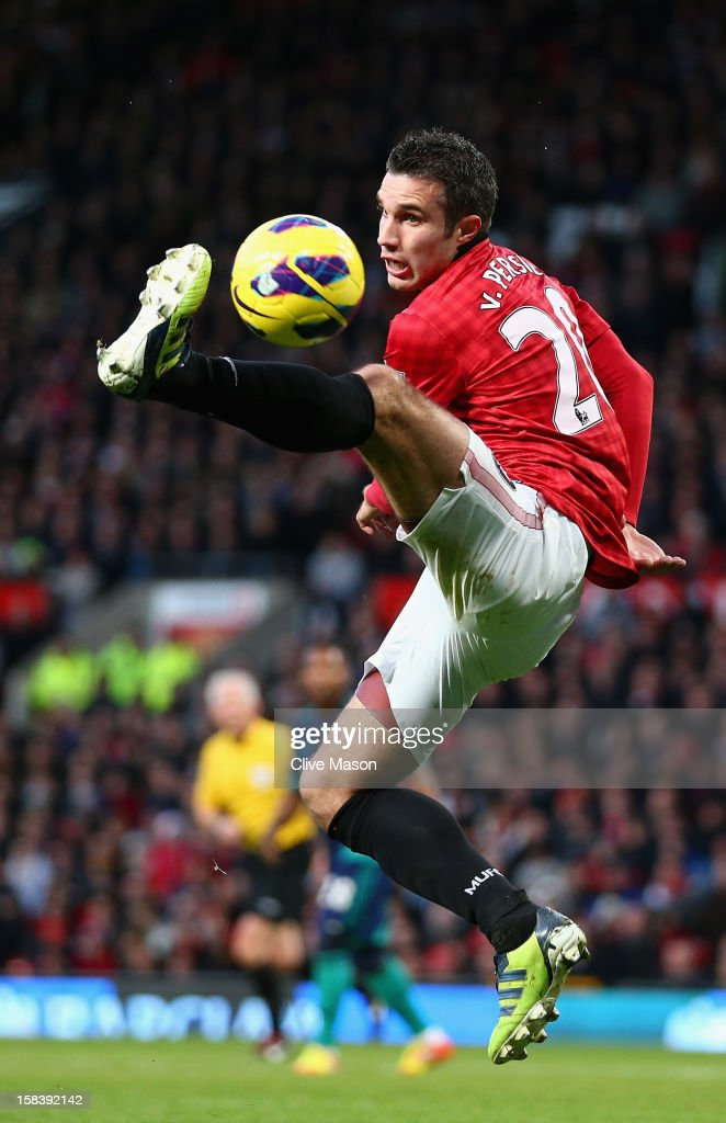 Robin van Persie of Manchester United in action during the Barclays Premier League match between Manchester United and Sunderland at Old Trafford on December 15, 2012 in Manchester, England.