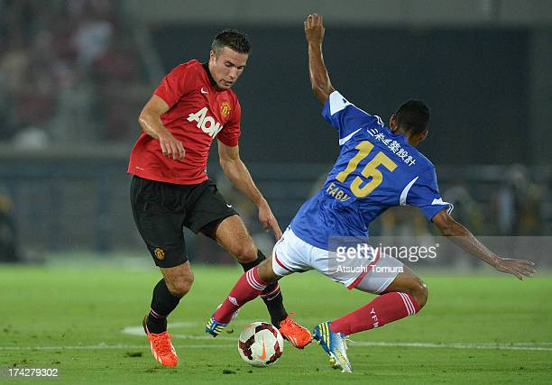 Robin van Persie of Manchester United in action during the preseason freindly match between Yokohama FMarinos and Manchester United at Nissan Stadium...