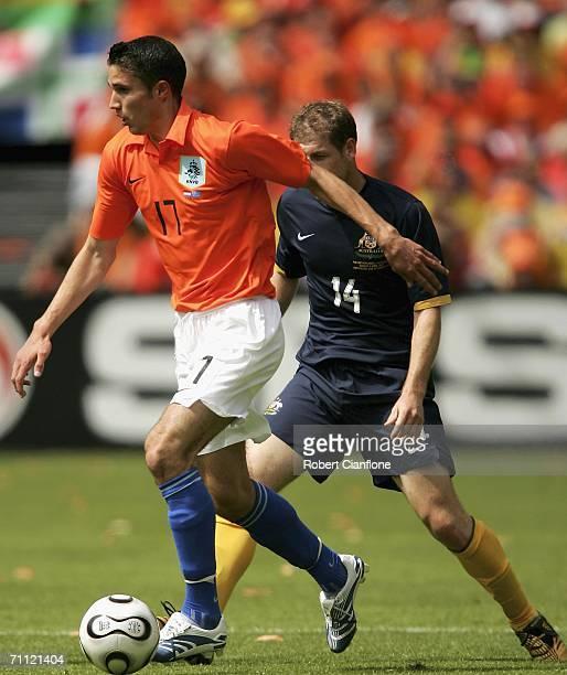 Robin van Persie of the Netherlands in action during the international friendly match between Netherlands and Australia at De Kuip Stadium June 4...