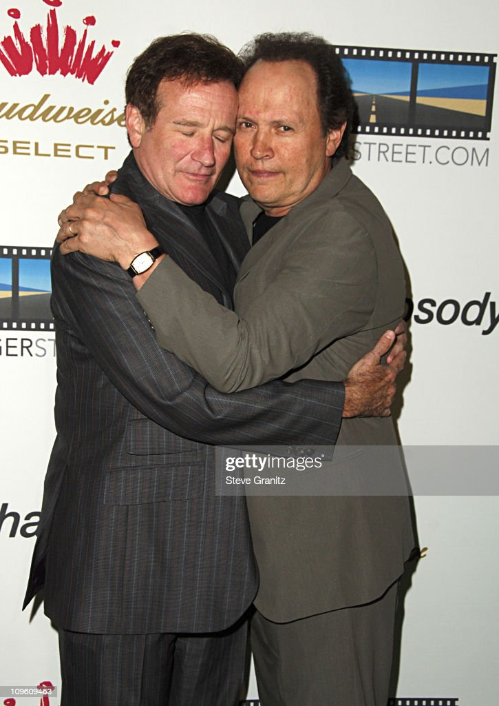 Robin Williams and Billy Crystal during Kevin Spacey Announces The Launch of The New Triggerstreet.com and Their Latest Venture With Budweiser Select at Social Hollywood in Hollywood, California, United States.