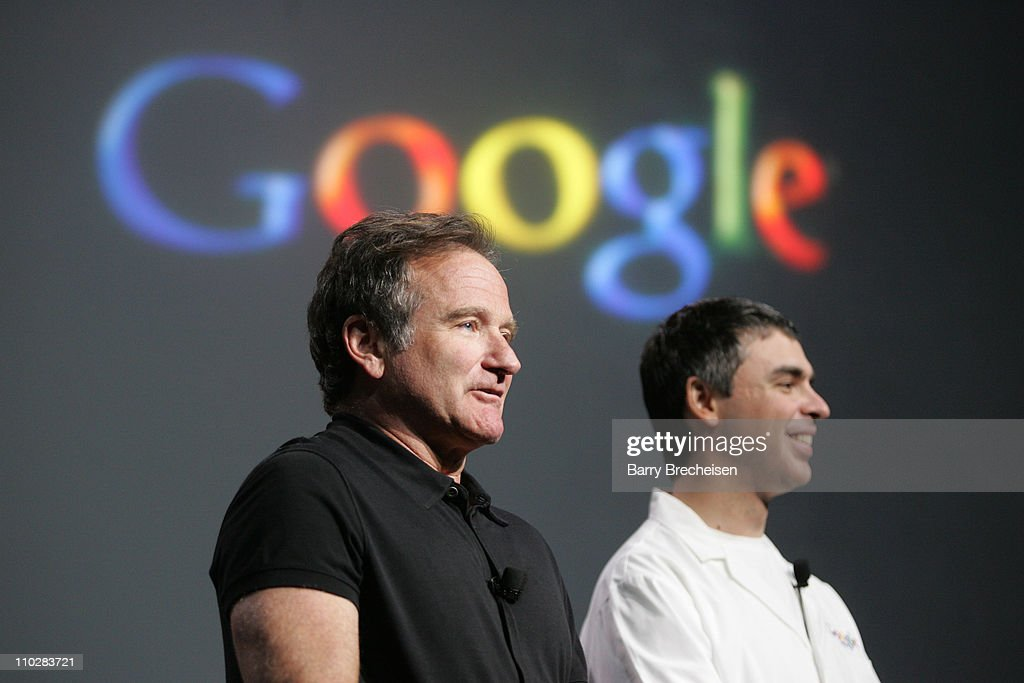 Robin Williams and Larry Page, co-founder of Google