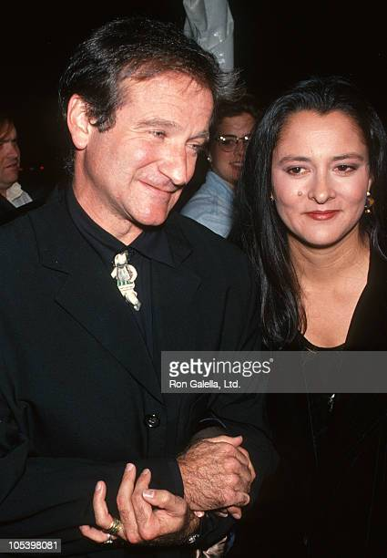 Robin Williams and Marsha Williams during 'Mrs Doubtfire' Los Angeles Premiere at Academy Theater in Beverly Hills California United States