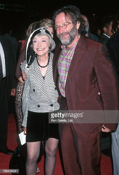 Robin Williams and mother during Premiere of 'Father's Day' at Los Angeles in Los Angeles CA United States