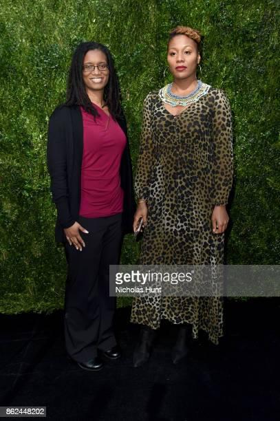 Robin Williams and Nikyatu Jusu attend Through Her Lens The Tribeca Chanel Women's Filmmaker Program Luncheon at Locanda Verde on October 17 2017 in...