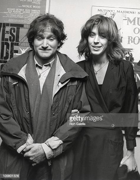 Robin Williams and Wife Valerie Williams during Screening of 'Caveman' at Academy Theatre in Beverly Hills California United States