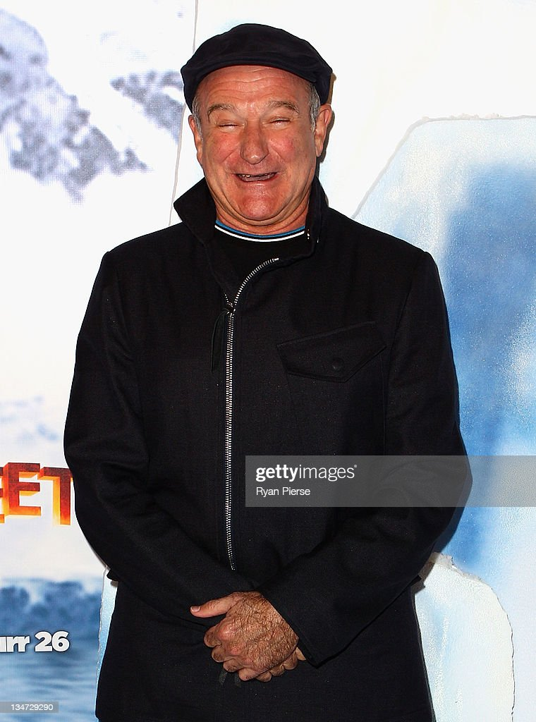 <a gi-track='captionPersonalityLinkClicked' href=/galleries/search?phrase=Robin+Williams&family=editorial&specificpeople=174322 ng-click='$event.stopPropagation()'>Robin Williams</a> arrives at the Happy Feet 2 Australian Premier at Hoyts Cinema on December 4, 2011 in Sydney, Australia.