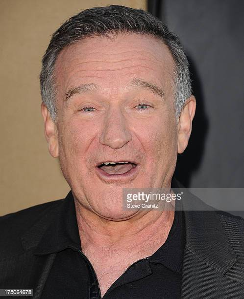 Robin Williams arrives at the Television Critic Association's Summer Press Tour CBS/CW/Showtime Party at 9900 Wilshire Blvd on July 29 2013 in...
