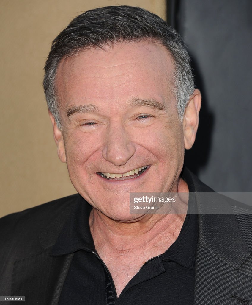 <a gi-track='captionPersonalityLinkClicked' href=/galleries/search?phrase=Robin+Williams&family=editorial&specificpeople=174322 ng-click='$event.stopPropagation()'>Robin Williams</a> arrives at the Television Critic Association's Summer Press Tour - CBS/CW/Showtime Party at 9900 Wilshire Blvd on July 29, 2013 in Beverly Hills, California.