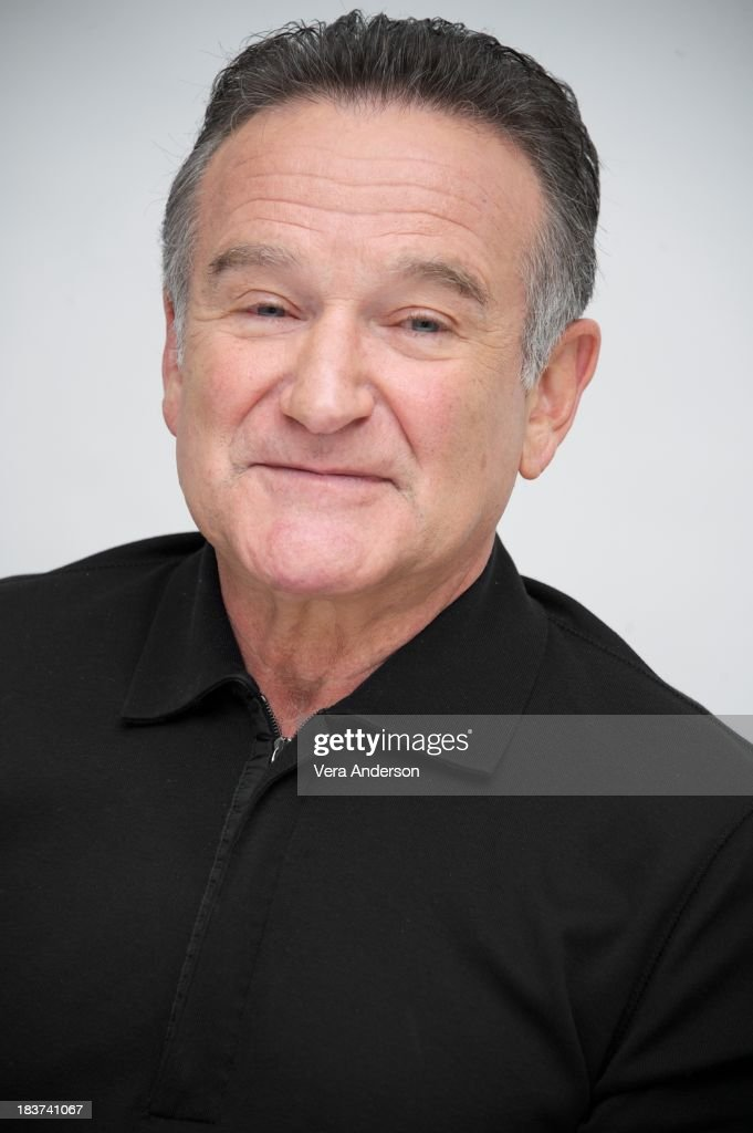 <a gi-track='captionPersonalityLinkClicked' href=/galleries/search?phrase=Robin+Williams&family=editorial&specificpeople=174322 ng-click='$event.stopPropagation()'>Robin Williams</a> at 'The Crazy Ones' Press Conference at the Four Seasons Hotel on October 8, 2013 in Beverly Hills, California.