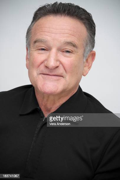 Robin Williams at 'The Crazy Ones' Press Conference at the Four Seasons Hotel on October 8 2013 in Beverly Hills California