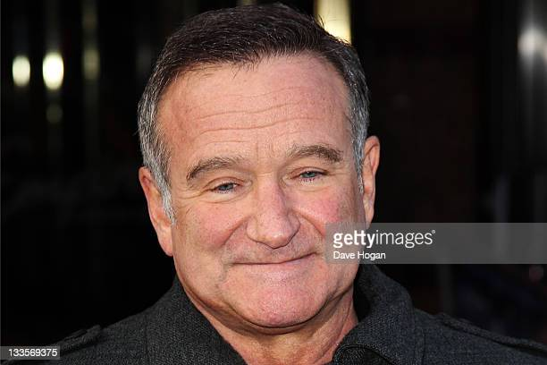 Robin Williams attends the European premiere of Happy Feet Two at The Empire Leicester Square on November 20 2011 in London United Kingdom