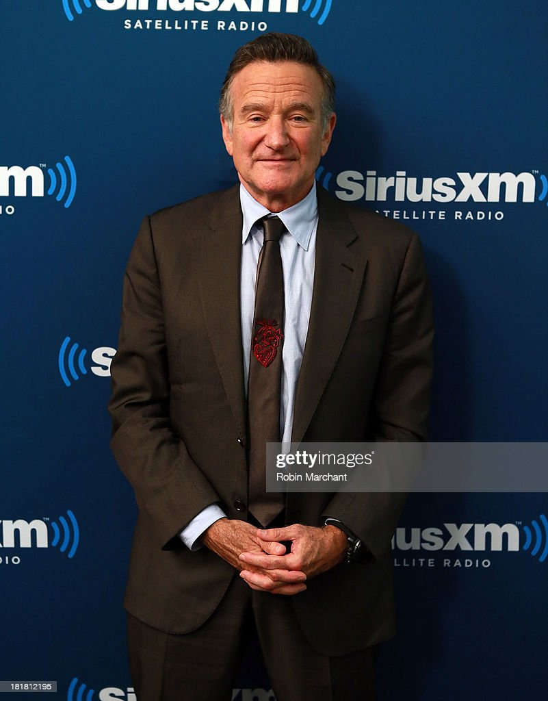 <a gi-track='captionPersonalityLinkClicked' href=/galleries/search?phrase=Robin+Williams&family=editorial&specificpeople=174322 ng-click='$event.stopPropagation()'>Robin Williams</a> poses at SiriusXM's 'Town Hall' series at SiriusXM Studios on September 25, 2013 in New York City.
