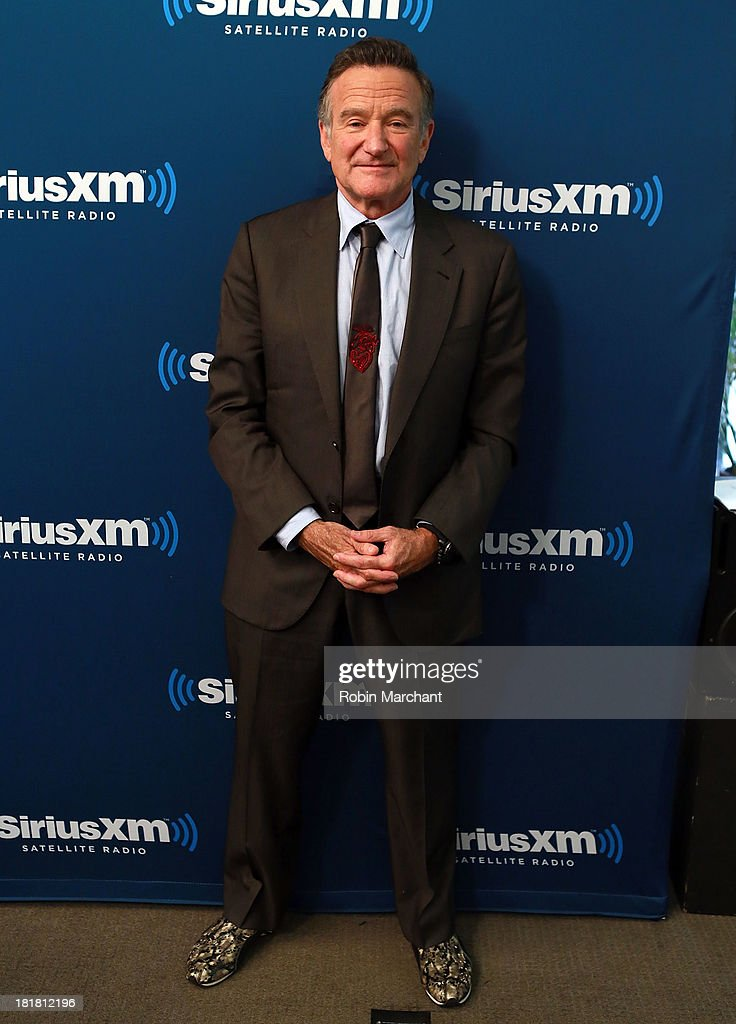 <a gi-track='captionPersonalityLinkClicked' href=/galleries/search?phrase=Robin+Williams+-+Actor&family=editorial&specificpeople=174322 ng-click='$event.stopPropagation()'>Robin Williams</a> poses at SiriusXM's 'Town Hall' series at SiriusXM Studios on September 25, 2013 in New York City.