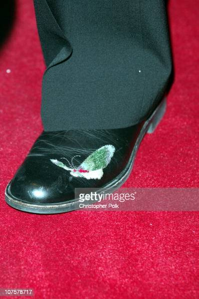 Robin Williams shoes with wings during Simon Wiesenthal Center Museum of tolerance 2003 Tribute Dinner honoring Billy and Janise Crystal at Beverly...