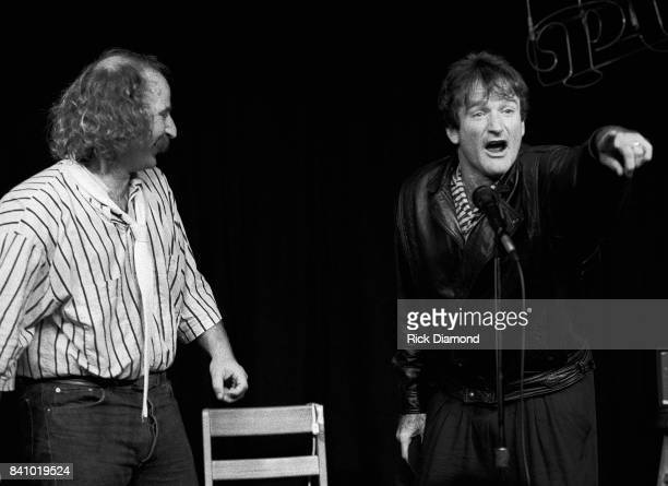 Robin Williams surprise appearance with Bruce 'Baby Man' Baum at the Punchline Comedy Club in Atlanta Georgia May 10 1986