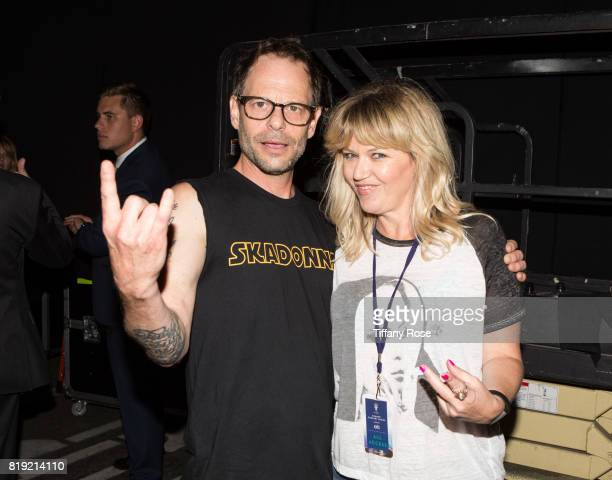 Robin Wilson of the Gin Blossoms and Kay Hanley of Letters to Cleo attend The Grove's Summer Concert Series Presented by Citi at The Grove on July 19...