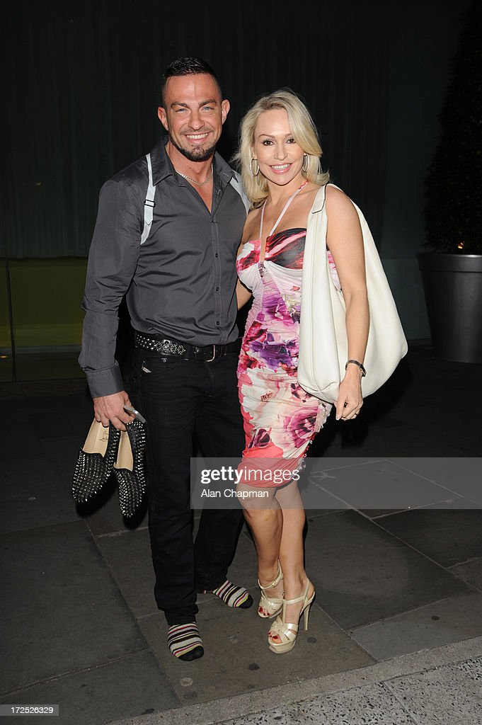 Robin Windsor and <a gi-track='captionPersonalityLinkClicked' href=/galleries/search?phrase=Kristina+Rihanoff&family=editorial&specificpeople=5584816 ng-click='$event.stopPropagation()'>Kristina Rihanoff</a> sighting at St Martin's Lane Hotel on July 2, 2013 in London, England.