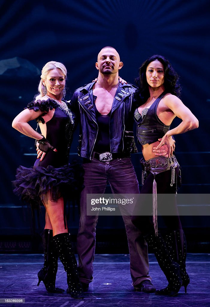 Robin Windsor, <a gi-track='captionPersonalityLinkClicked' href=/galleries/search?phrase=Kristina+Rihanoff&family=editorial&specificpeople=5584816 ng-click='$event.stopPropagation()'>Kristina Rihanoff</a> and Karen Hauer perform during a photocall for 'Burn The Floor' at Shaftesbury Theatre on March 7, 2013 in London, England.