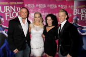Robin Windsor Kristina Rihanoff Giselle Peacock and Patrick Helm attend an after party celebrating the press night performance of 'Burn The Floor' at...