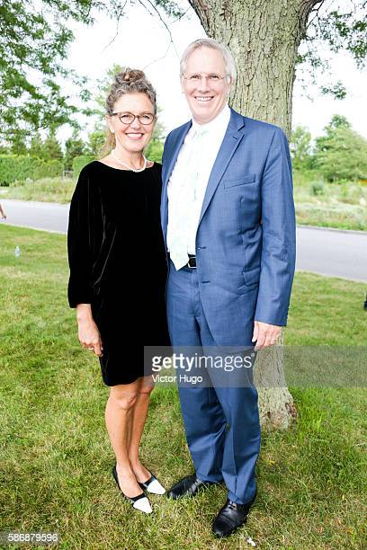 Robin Wright and Douglas Wright attend Southampton Hospital's 58th Annual Summer Party at Wickapogue Road on August 6 2016 in Southampton New York