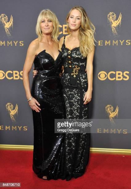 Robin Wright and Dylan Penn arrive at the 69th Annual Primetime Emmy Awards at Microsoft Theater on September 17 2017 in Los Angeles California
