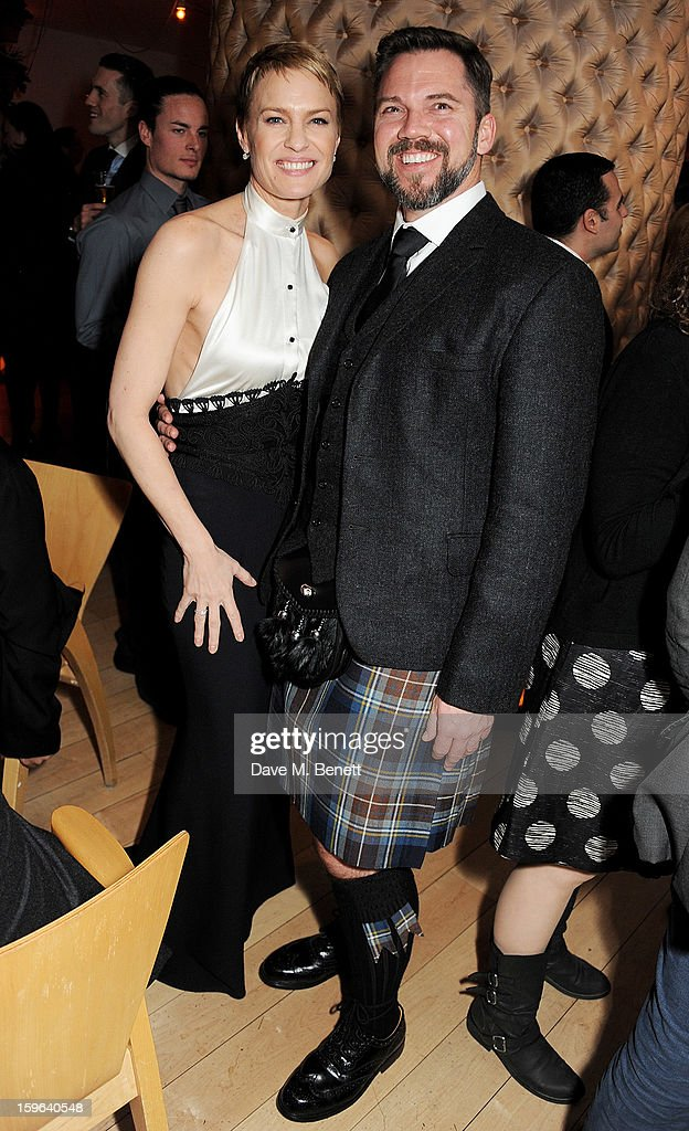 Robin Wright (L) and Sean Flanigan attend an after party celebrating the Red Carpet Premiere of the Netflix original series 'House of Cards' at Asia de Cuba, St Martins Lane Hotel, on January 17, 2013 in London, England.