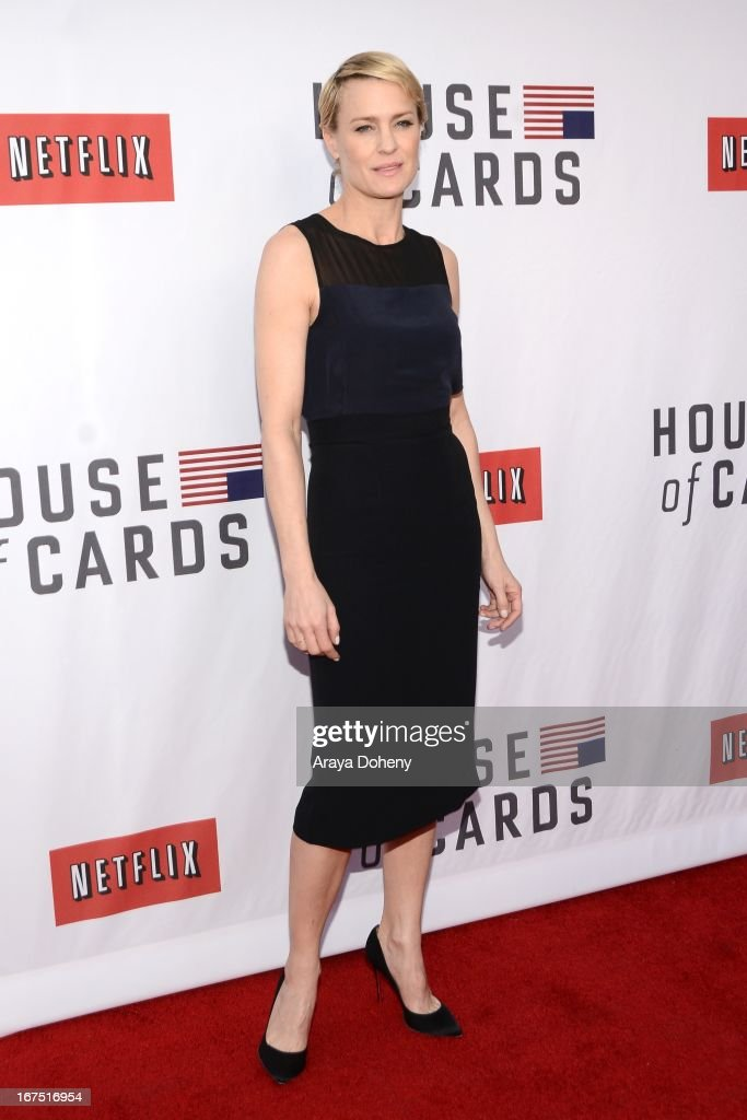 Robin Wright arrives at the Netflix's 'House Of Cards' for your consideration Q&A event at Leonard H. Goldenson Theatre on April 25, 2013 in North Hollywood, California.