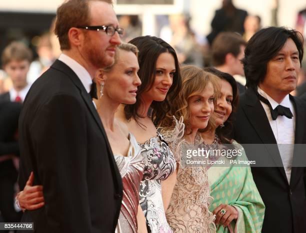 Robin Wright Asia Argento Isabelle Huppert and Sharmila Tagore arriving at the Up premiere at the Palais de Festival during the 62nd Cannes Film...
