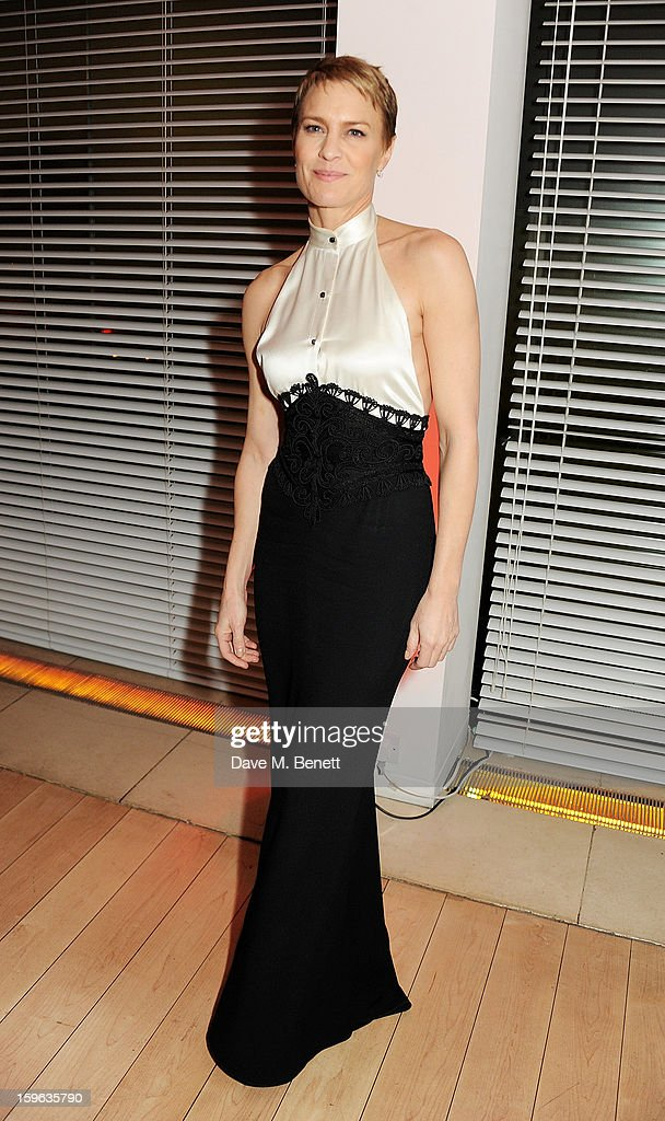 Robin Wright attends an after party celebrating the Red Carpet Premiere of the Netflix original series 'House of Cards' at Asia de Cuba, St Martins Lane Hotel, on January 17, 2013 in London, England.
