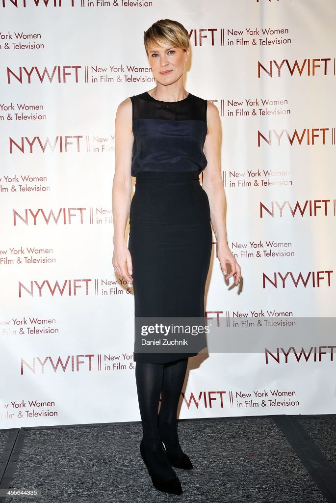 <a gi-track='captionPersonalityLinkClicked' href=/galleries/search?phrase=Robin+Wright&family=editorial&specificpeople=207147 ng-click='$event.stopPropagation()'>Robin Wright</a> attends New York Women In Film And Television's 33rd Annual Muse Awards at New York Hilton on December 12, 2013 in New York City.