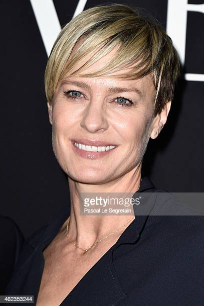 Robin Wright attends the Giorgio Armani Prive show as part of Paris Fashion Week Haute Couture Spring/Summer 2015 on January 27 2015 in Paris France