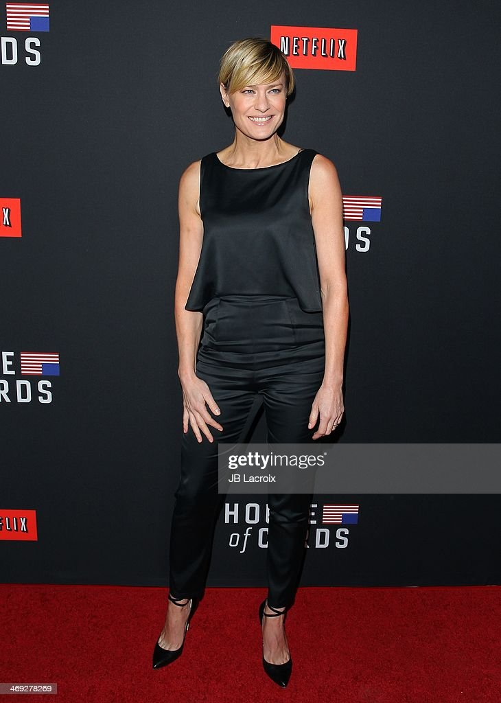 Robin Wright attends the 'House Of Cards' season 2 special screening held at Directors Guild Of America on February 13, 2014 in Los Angeles, California.